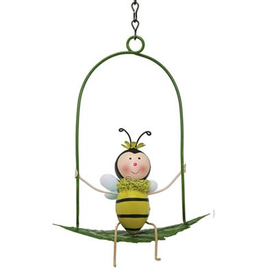 Garden Bee on Swing