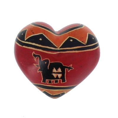 Elephant Soapstone Heart Large