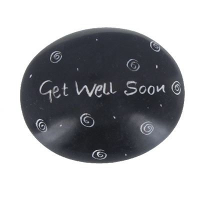 Get Well Soon Large Oval Soapstone Pebble