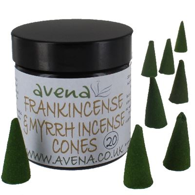 Frankincense and Myrrh Avena Large Incense Cones 20