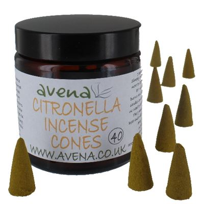 Citronella Avena Large Incense Cones 40