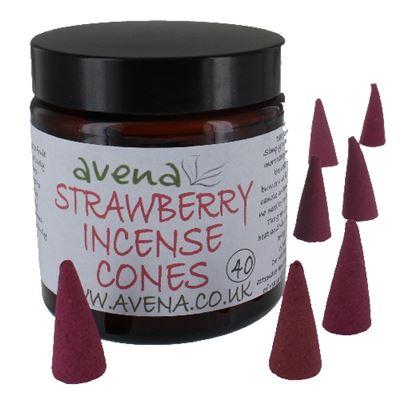 Strawberry Avena Large Incense Cones 40