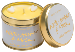 White Amber And Musk Candle In A Tin