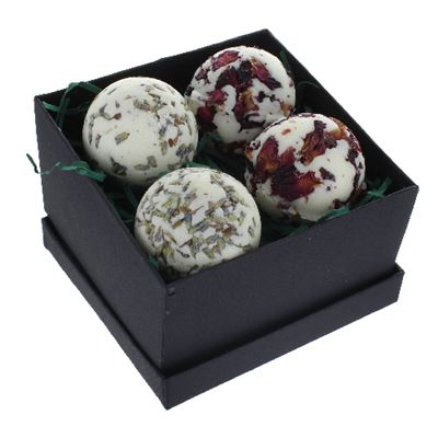 Bath Creamers Luxury Gift Box Of Four Rose & Lavender