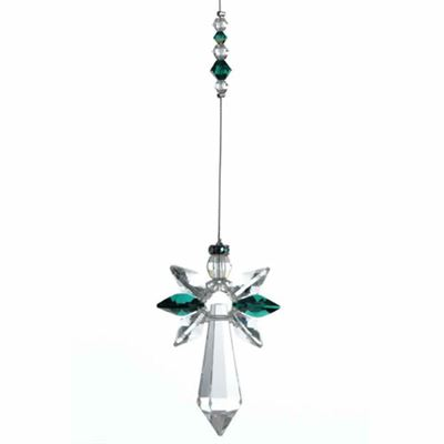 Emerald Guardian Angel Crystal Large