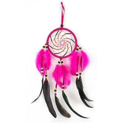Black & Pink Dream Catcher 45cm