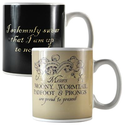 Marauder's Map Harry Potter Heat Change Mug
