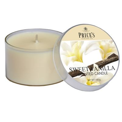 Sweet Vanilla Candle drum by Price's 25hr