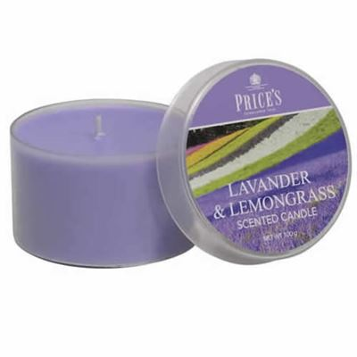 Lavender & Lemongrass Candle drum by Price's 25hr