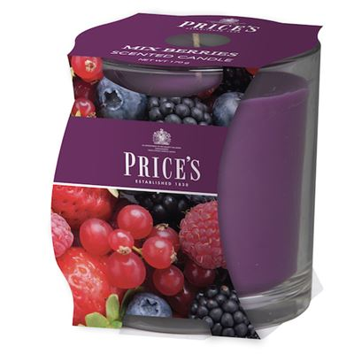 Mix Berries Candle in Glass Jar by Price's