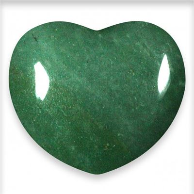 Aventurine Green Heart Large