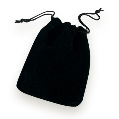 Black Drawstring Pouch Large