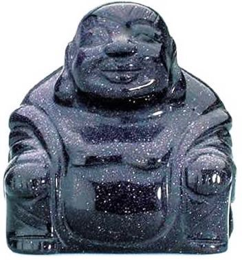 Blue Goldstone Buddha 50mm