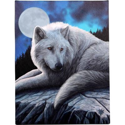 Wolf Guardian on Rock Canvas Picture by Lisa Parker