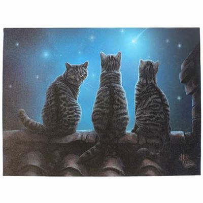 Cats on Roof Canvas Picture by Lisa Parker
