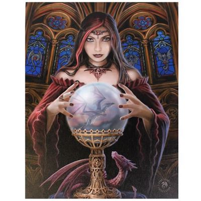 Gothic Dragon Slayer with Crystal Ball Canvas Picture by Anne Stokes