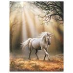 Unicorn in Woods Canvas Picture by Anne Stokes