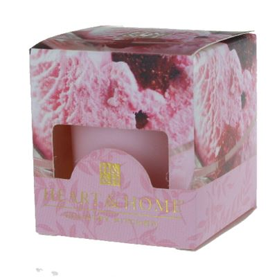 Strawberry Ice Cream Heart & Home Votive Candle