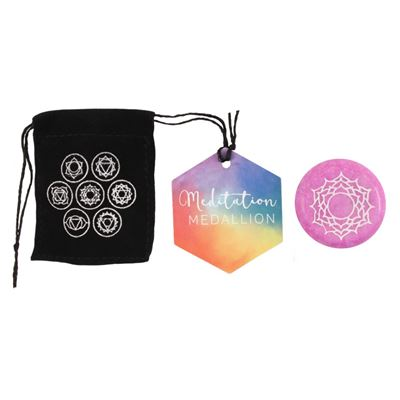 Crown Chakra Medallion in Black Pouch