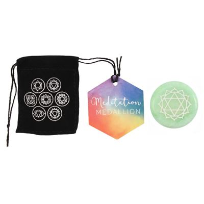 Heart Chakra Medallion in Black Pouch