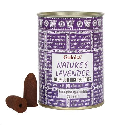Lavender Goloka Backflow Incense Cones 24s
