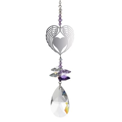 Angel Wing Heart Crystal Fantasy Rainbow Maker 24cm
