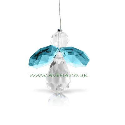 Blue Topaz Crystal Angel