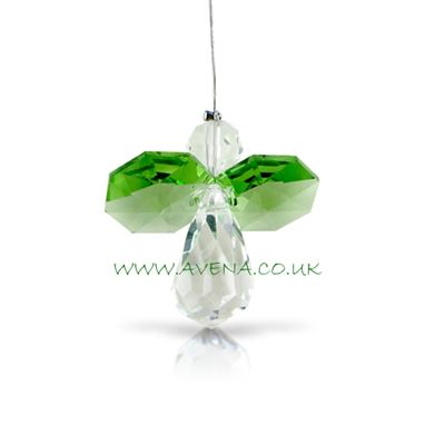Green Peridot Crystal Angel