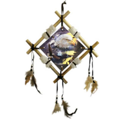 Eagle Dream CatcherWall Plaque