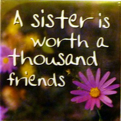 A sister is worth a thousand friends Fridge Magnet 039