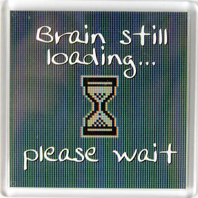 Brain still loading please wait Fridge Magnet 059