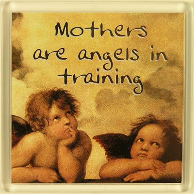 Mothers are angels in training Fridge Magnet 066