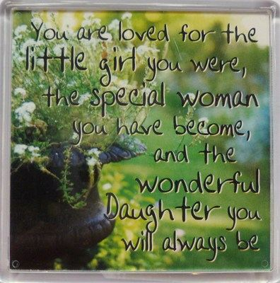 You are loved for the little girl you were... Fridge Magnet 074
