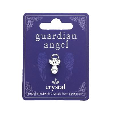 Guardian Angel Pin With Clear Swarovski Crystal