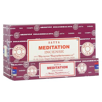 Meditation Satya Incense Sticks 15g Box Of Twelve Special Offer