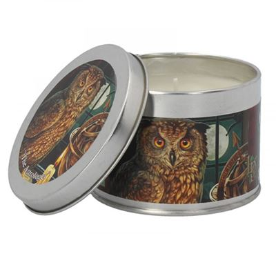 The Astrologer Owl Candle in a Tin