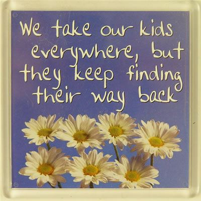We take our kids everywhere... Fridge Magnet 103