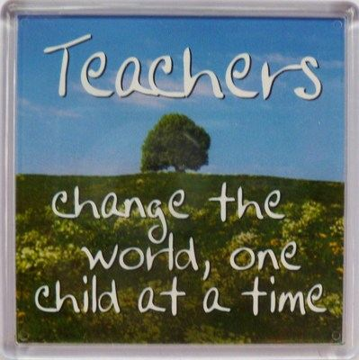 Teachers change the world, one child at a time Fridge Magnet 166
