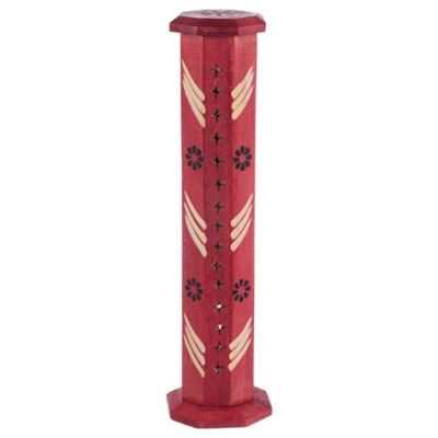 Red Mango Wood Incense Tower