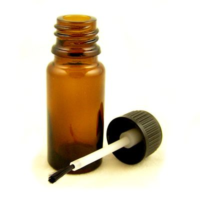 Glass Bottles Amber With Brush Cap 10ml