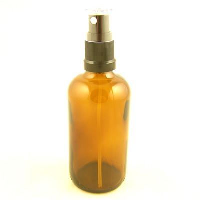 Glass Bottles Amber Kingston with Mist Sprayer  Atomiser Cap 100ml