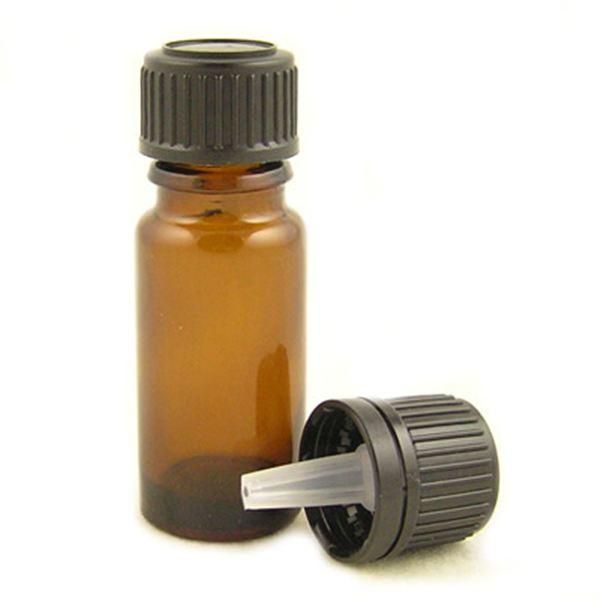 106bcc00ff5a Glass Bottles Amber with Standard Black Dropper Cap 10ml | Kingston ...