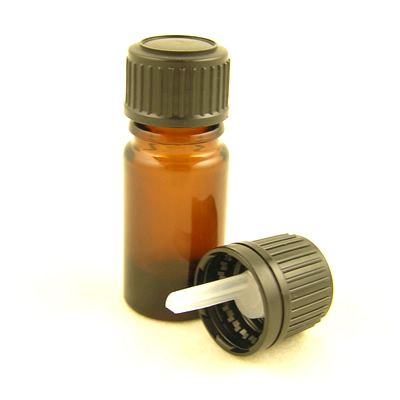 Glass Bottles Amber Kingston with Standard Black Dropper Cap 5ml