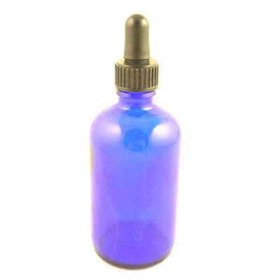 Glass Bottles Blue York with Glass Pipette Screw On Cap 100ml
