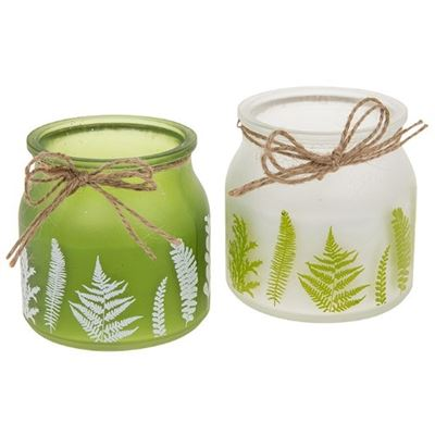Botanical Leaves Candle Set 2 Candles