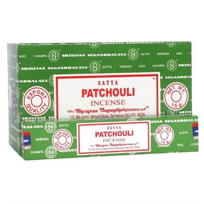 Patchouli Satya Incense Sticks Box of 12 Special Offer