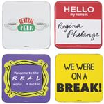 Friends Quotes Gift Set Of 4 Coasters