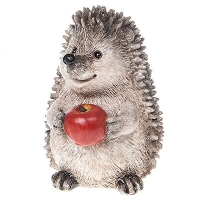 Country Hedgehog With Apple 11cm