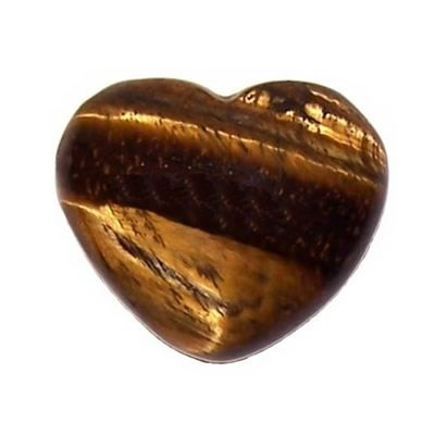 Gold Tigers Eye Heart Small