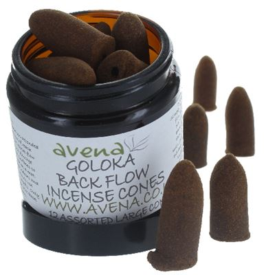 Goloka Backflow Incense Cones Mixed Jar 12s